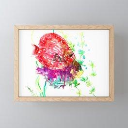 Red Purple Aquatic Colorful fish design aquarium, Discus Framed Mini Art Print