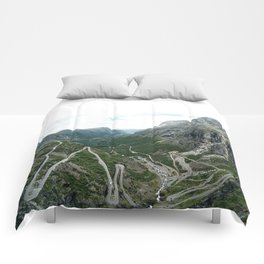 view from trollstigen Comforters