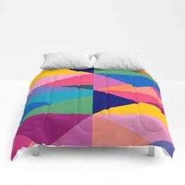 Geometric Color Block Comforters