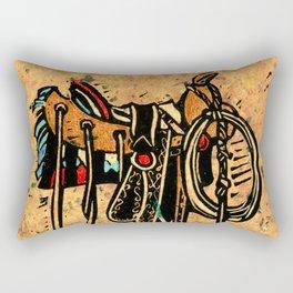 Western Saddle Rectangular Pillow