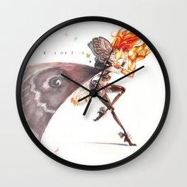 kiss of fire Wall Clock
