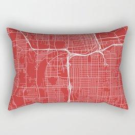 Tacoma Map, USA - Red Rectangular Pillow
