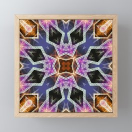 Crystal Diamonds Geometric Mandala Framed Mini Art Print
