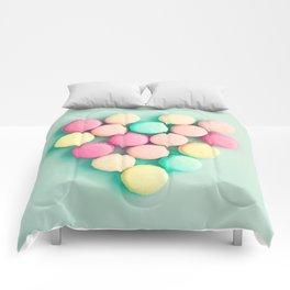 Macarons, macaroons heart II, pop art Comforters