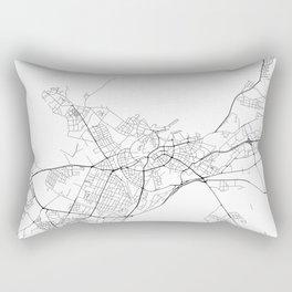 Minimal City Maps - Map Of Tallinn, Estonia. Rectangular Pillow