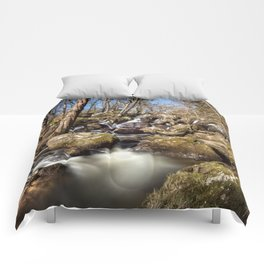 Becky Falls in Spring Comforters