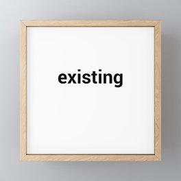 existing Framed Mini Art Print