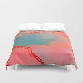 BETTER TOGETHER - LIVING CORAL by MS Duvet Cover