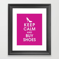 Keep Calm and Buy Shoes Framed Art Print