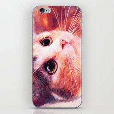 Innocent eyes (watercolor cat painting, art, aquarell) iPhone & iPod Skin