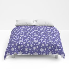 Purple Holiday Snowflake Pattern Comforters