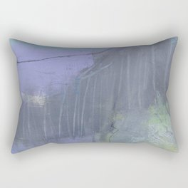 """""""shadow diver"""" abstract painting in modern fresh colors purple, pink, lime Rectangular Pillow"""
