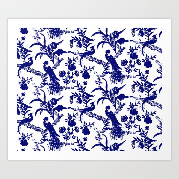 Royal french navy peacock Kunstdrucke