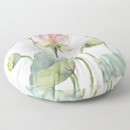 Lotus Home for a Little Mouse Floor Pillow