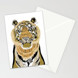 Tiger Collage Stationery Cards