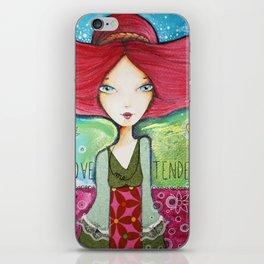 Love me tender iPhone Skin