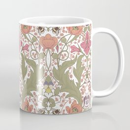 Spring Pattern with Poppy Flowers and Gladioli Coffee Mug
