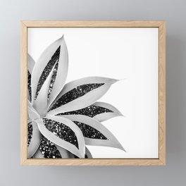 Agave Finesse Glitter Glam #5 #tropical #decor #art #society6 Framed Mini Art Print