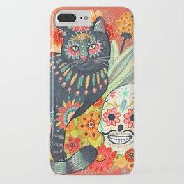 Dia De Los Muertos Cat iPhone Case