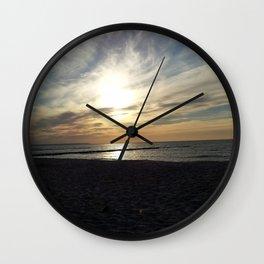 Sunset at Baltic Sea Wall Clock