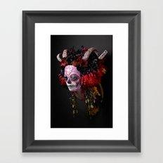 Midnight Muertita Harvest Framed Art Print