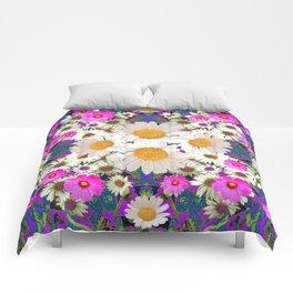 DAISIES & FUCHSIA COSMO FLOWER GARDEN Comforters