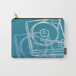 Blue Record Player Carry-All Pouch