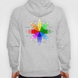Love and Emotion Valentines Color Wheel Hoody