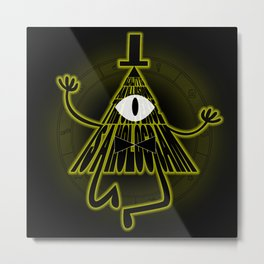 Bill Cipher, Reality is an illusion Metal Print