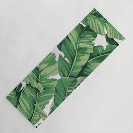 Tropical banana leaves V Yoga Mat
