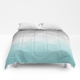 light blue and grey polygon Comforters