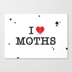 I Love Moths Canvas Print