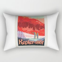 Kepler-186f - NASA Space Travel Poster Rectangular Pillow