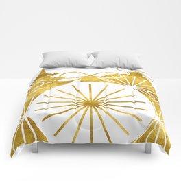 Gold Christmas 01 Comforters
