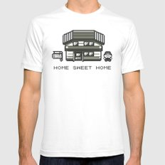 Home Sweet Home  White Mens Fitted Tee MEDIUM