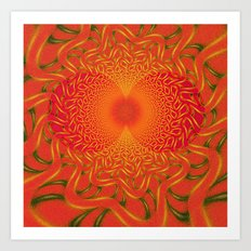 orange kiss Art Print