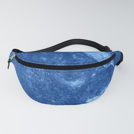 Deep Blue Marble texture Fanny Pack
