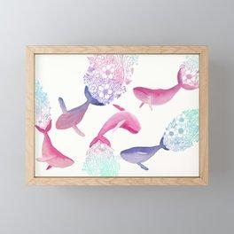 Whale Party Framed Mini Art Print
