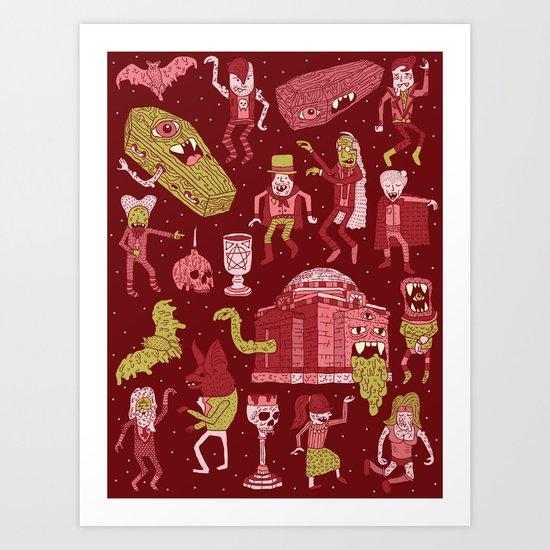 Wow! Vampires! Art Print
