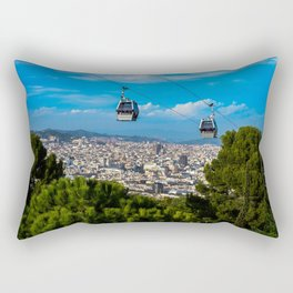 Trolly Over Barcelona Rectangular Pillow