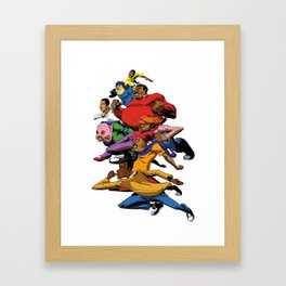 Fat Albert and the gang Framed Art Print