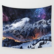 Mountain CALM IN space view Wall Tapestry