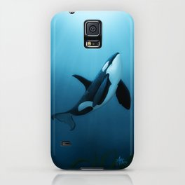 """The Dreamer"" by Amber Marine ~ Orca / Killer Whale Art, (Copyright 2015) iPhone Case"