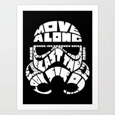Stormtrooper in typography Art Print
