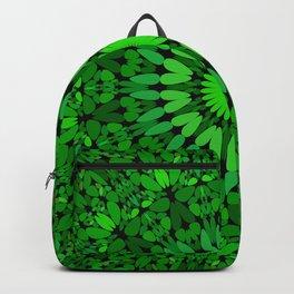Deep Green Leaves Mandala Backpack