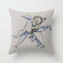 Doodle Boy Throw Pillow