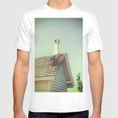 Summer cottage gable roof Mens Fitted Tee White MEDIUM