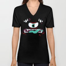 Baddest Red Monster! Unisex V-Neck