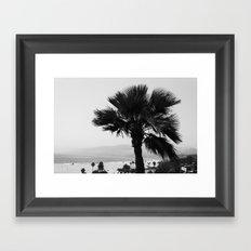 LA Palm tree Framed Art Print