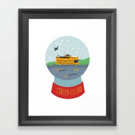 Staten Island Ferry, Snow globe, souvenir, new york city, nyc Framed Art Print